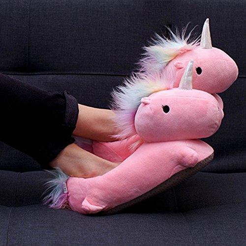 Beheizbare Einhorn Pantoffeln Pink - importiert Unicorn USB Heated Slippers