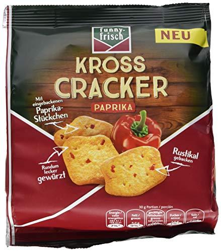 funny-frisch Kross Cracker Paprika, 12er Pack (12 x 100 g) - Cracker