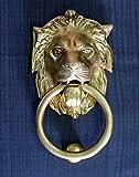 StonKraft collezione casa - bellissimi battifiamma leone in ottone, accessori per porte, battente per cancello (6 pollici)