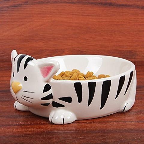 Pet ciotola ceramica gatto senior di bocce/Teddy