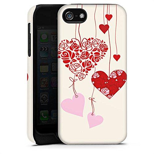 Apple iPhone 5s Housse étui coque protection C½urs Amour Amour Cas Tough terne