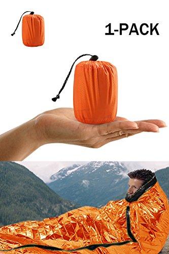Notfall-Zelt, Survival Schlafsack, Notfall Outdoor Tube Zelt mit Ultraleicht hitzeabweisend Kälteschutz 1 Packung