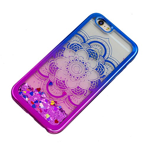 iPhone 5/5S/SE Hülle OuDu Glitzern Funkeln Hülle TPU Silicone Etui für iPhone 5/5S/SE Bling Glitter Case Soft Lightweight Bumper Sparkle Style Cover Flexible Schlanke Schale Glatte Leichte Tasche Ultr Lotus