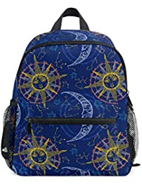 FAJRO Art Sun Moon Faces - Mochila Escolar para niñas