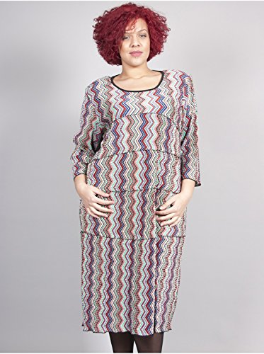 Vêtement Femme Grande Taille Robe Plissée Imprimé Multi Multicolore