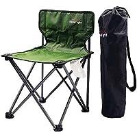 CRUTCH Mini silla de la pesca Silla Silla plegable portátil sillón al aire libre, fruit green cloth