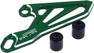Jfgracing Cnc Vorderrad Kettenschutz Kettenschutz Kawasaki Kx125 03 08 Kx250 05 08 Kx250f 17 Kx450f 06 17 Grün Auto