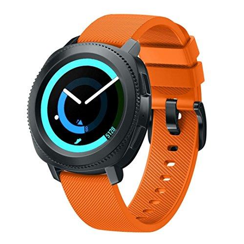 squarex Ersatz-Armband für Samsung Gear Sport aus weichem Silikon, Damen, Orange, AS Show -