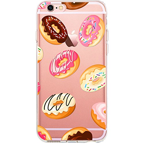 GIRLSCASES® | iPhone 6-6S Plus Hülle | Im Schmetterling Blumen Motiv Muster | in rosa pink | Fashion Case transparente Schutzhülle aus Silikon Donut Muster 4