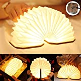 LED Buchlampe, Hölzerne Buch Lampe, USB Aufladbare Orgel Lampe, Aurora Lampe Buch...