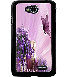 ColourCraft Beautiful Butterfly Design Back Case Cover for LG L70