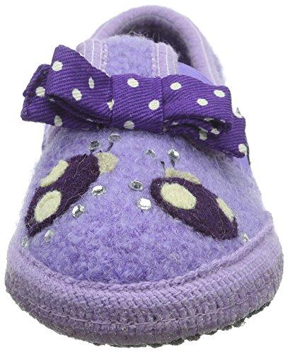 Haflinger Mädchen Ladybird Flache Hausschuhe Violett (Orchidee 21)