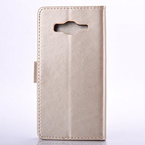 Meet de bleu pour Apple iphone 5S /iphone SE Case, Folio pour Apple iphone 5S /iphone SE PU Housse, (pissenlit) gaufré Wallet / flip étui / Pouch / Case / Holster / Wallet / Case en cuir Wallet Style  d'or