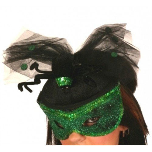 Sequin Green Hat & mask