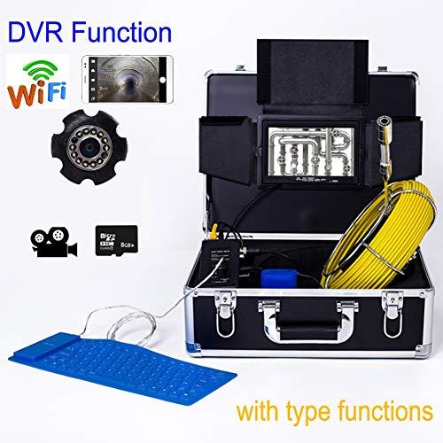 YUYUELONGMEN 7 Zoll 23mm Industrielle Rohr Kanalisation Inspektion IP68 Drainage Test 1000 TVL Kamera mit DVR und WiFi (50M