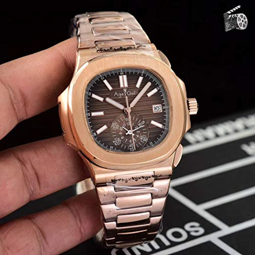 ZCCZJBXS Luxury Automatic Mechanical Men Watch Sapphire Multiple Time Zone Transparent Rose Gold Moon Phase Watches Black Blue Coffee Blue Moon Coffee