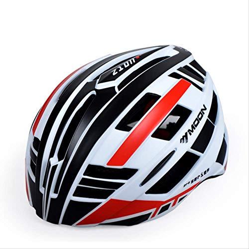 CPSTM Fahrradhelm Herren Und Frauen Reiten Harte Hüte Integrierte Geformte Mountainbike Cap Anti-Impact Wind Und Staub Komfort Atmungsaktiv Red Hats Classic Hut