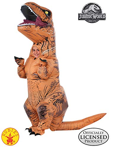 Schwanz T Kostüm Rex - Rubie's Aufblasbares T-Rex-Dinosaurier-Kostüm, Jurassic World, für Erwachsene