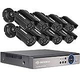 DEFEWAY 8-Kanäle-1080N-Überwachungskamera Set/Videoüberwachung DVR-Recorder mit 8 x 1200TVL / 720P 24 IR-LEDs 80ft IR-Nachtsicht AHD Security System(No HDD)