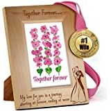 TiedRibbons® Karva Chauth Special Wooden Engraved Frame With Golden Medal   Karwachauth Special Gifts For Women   Karwachauth Special Gifts For Wife   Karwachauth Special Gifts For Wife