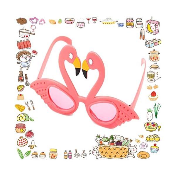 Hado Elegante, 1 pieza Flamingo anteojos de sol flamingo playa novedad decoraciones de fiesta boda decoración hawaiana… 5