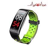Das Tracking-Gerät, Farbbildschirm Intelligente Armbanduhr, 4 Sportmodus, Pulsmesser, IP67 Wasserdicht, Schlaf-und Blutdruckmessgerät, Kalorien / Schrittzähler intelligente Armband für IOS Android