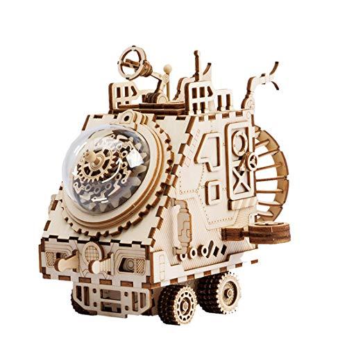 Yvsoo 3D Puzzle Steampunk Spieluhr Roboter-Raumschiff Modell Wasserrad Zweifarbig DIY Spielzeug Gute Geschenkidee für Roboter-Freunde