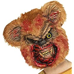 Máscara de Zombi Oso de Peluche | Antifaz Oso de Felpa Terrorífico | Careta Halloween | Mascarilla Fiesta de Terror