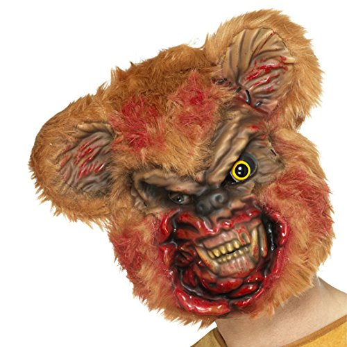 Teddy Bär Maske - Amakando Zombiemaske Teddy Horrormaske Bär blutige