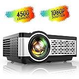 Proyector, TOPTRO Mini Proyector Portátil de Cine en Casa 4500 Lúmenes Soporte Full HD 1080P con...
