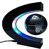 QGSTAR C-Shape Dekoration Magnetschwebebahn Schwebender Globus Welt Ahorn D Licht - Weihnachtsgeschenk