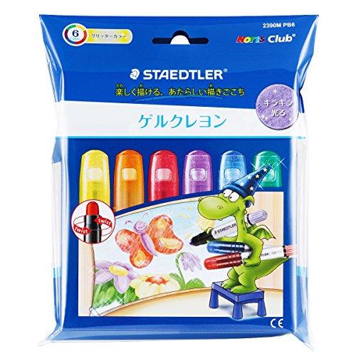 Staedtler gel crayon Norris club 2390M PB6 glitter color by Staedtler