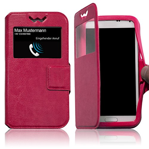 Schutzhülle Pink für Archos Core 55P Hülle Flipcase Case Tasche Kunstleder