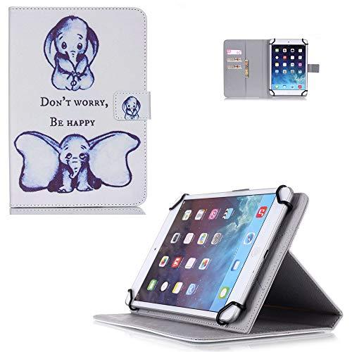 Universal-Schutzhülle für Tablet 9,6 - 10,5 cm - Klappetui aus PU-Leder für  Wecool 10 1 / NeuTab N11 Plus (2017)/LLLtrade 10 1 mit Standfunktion