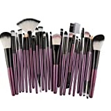 Makeup Kosmetik Pinsel Xinan 25PC Cosmetic Blusher Lidschatten Pinsel Set Kit Bürste Kontur Pinsel Tool (, Lila)