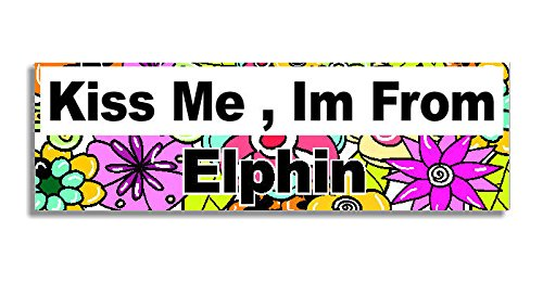 kiss-me-im-from-elphin-car-sticker-sign-decal-bumper-sign-5-colours-flowers