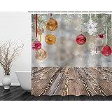 beddingleer impermeable impreso en 3d cortina de ducha con 12ganchos 71* 71cm/180× 180cm estilo 26