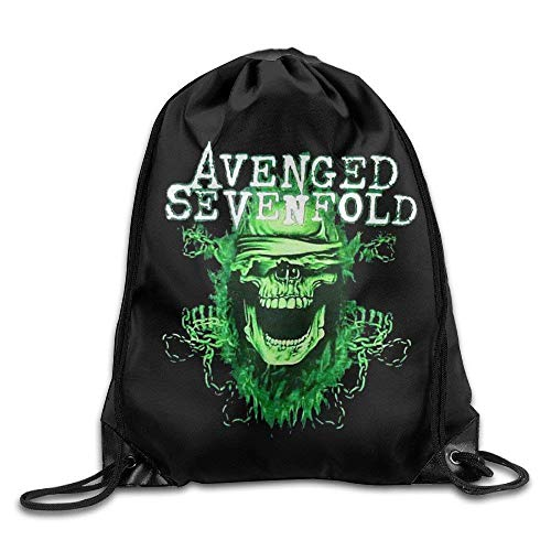 Hicyyu Avenged Sevenfold Welcome to The Family Travel Gym Bag Drawstring Backpack/Rucksack - Avenged Access Sevenfold All