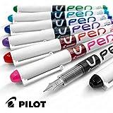 Pilot V-Bolígrafo tinta borrable pluma estilográfica descartable-Juego de 7unidades