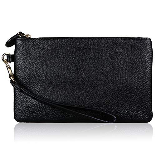 3521bb63d2c Befen Women Genuine Leather Minimalist Wallet Purse Clutch Wristlet for  iPhone 8/7/6s