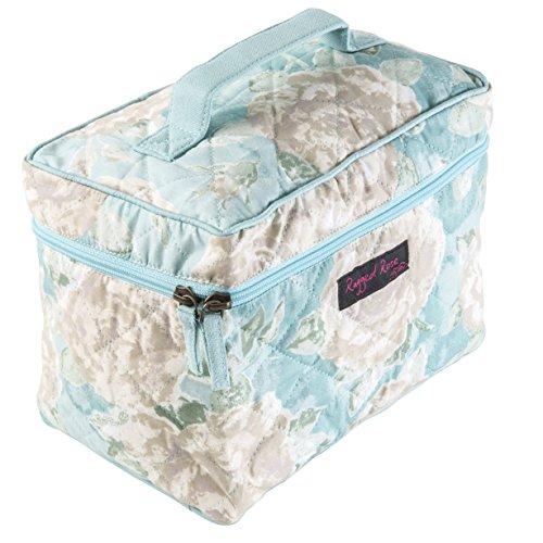 Ragged Rose Vanessa Trousse de toilette en coton Motif floral Bleu dragée