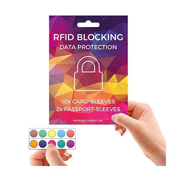 RFID Blocking NFC Custodia protettiva (12 pezzi) per carta di credito, carta bancomat, carta d'identità, passaporto… 5 spesavip