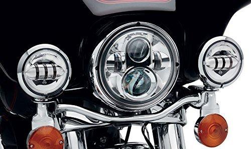 """Preisvergleich Produktbild Sunpie 7-Zoll-Chrom Harley Daymaker LED-Scheinwerfer 2x4-1 / 2 """"Nebelscheinwerfer Passing Lampen für Harley Davidson-Motorrad"""