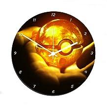AUX Prix Canons–Reloj de pared Pokemon Pokeball Swag Deco cristal