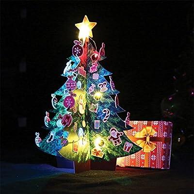 50 FIFTY - Mini Sapin de Noël Lumineux Cartonné
