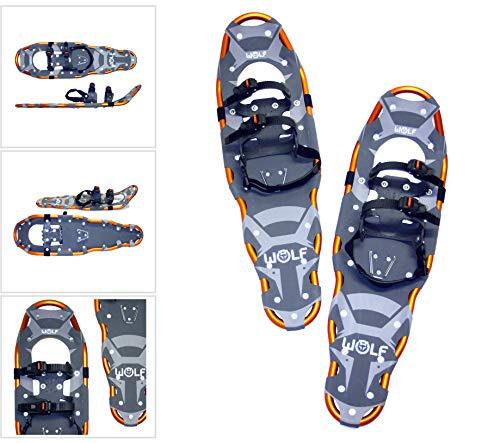 WOLF IMPRESSION 30 Schneeschuhe (Snow Shoes, Steigeisen, Schneewanderschuhe, Schneeschuhwandern, Eisschuhe, Steighilfe, Schuhe-Krallen, Boa, Harscheisen, Steig Ski, Snow Feat, Tiefschneeschuhe, Spikes, Fersenriemen, Schneeboots)