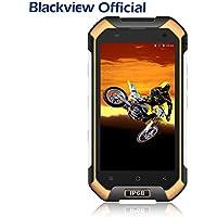 Teléfonos libres, Blackview BV6000 - Móvil Antigolpes - 4G Smartphones con Android 7.0 y 3GB RAM + 32GB ROM, Dual SIM, 13MP Cámara, 4.7 HD, 4500mAh - Amarillo