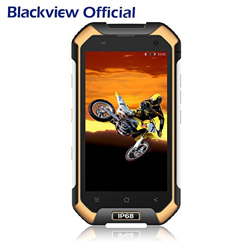 Blackview Teléfonos Libres, BV6000 - Móvil Antigolpes - 4G Smartphones con Android 7.0 y 3GB RAM + 32GB ROM, Dual SIM, 13MP Cámara, 4.7 HD, 4500mAh - Amarillo
