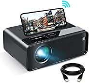 Proyector WiFi, ELEPHAS 2020 Mini proyector WiFi con pantalla de sincronización para smartphone, proyector por