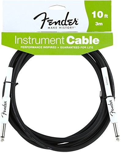 fender-performance-series-jack-jack-3m-10-ft-black-cable-audio-performance-guitar-cable-10-black